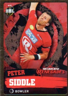 2015/16 CA & BBL Cricket Gold Parallel #PS117 Peter Siddle Renegades