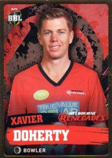 2015/16 CA & BBL Cricket Gold Parallel #PS109 Xavier Doherty Renegades