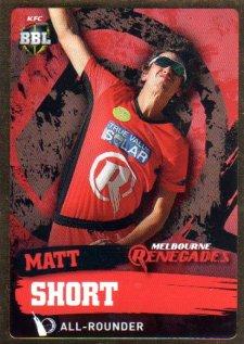 2015/16 CA & BBL Cricket Gold Parallel #PS116 Matt Short Renegades
