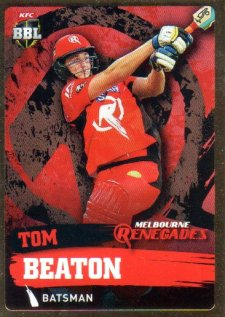 2015/16 CA & BBL Cricket Gold Parallel #PS106 Tom Beaton Renegades