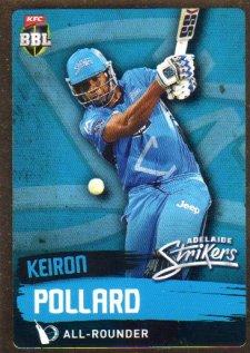 2015/16 CA & BBL Cricket Gold Parallel #PS69 Kieron Pollard Strikers