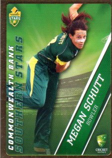 2015/16 CA & BBL Cricket Gold Parallel #PS59 Megan Schutt Southern Stars