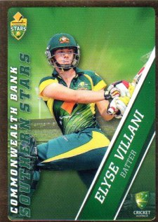 2015/16 CA & BBL Cricket Gold Parallel #PS60 Elyse Villani Southern Stars