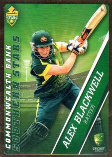 2015/16 CA & BBL Cricket Gold Parallel #PS47 Alex Blackwell Southern Stars