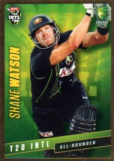 2015/16 CA & BBL Cricket Gold Parallel #PS45 Shane Watson Australian T20
