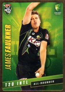 2015/16 CA & BBL Cricket Gold Parallel #PS36 James Faulkner Australian T20