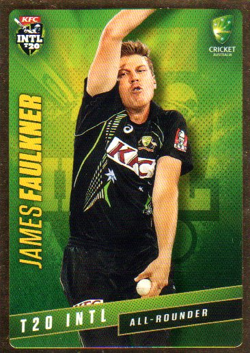 2015/16 CA & BBL Cricket Gold Parallel #PS36 James Faulkner Australian T20