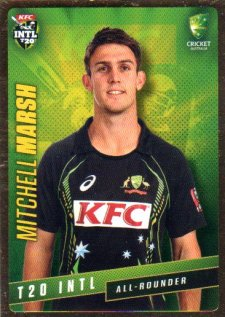 2015/16 CA & BBL Cricket Gold Parallel #PS38 Mitchell Marsh Australian T20