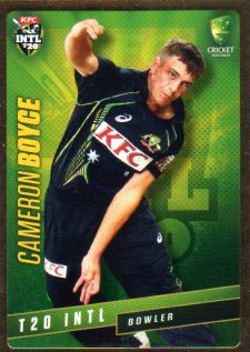 2015/16 CA & BBL Cricket Gold Parallel #PS33 Cameron Boyce Australian T20