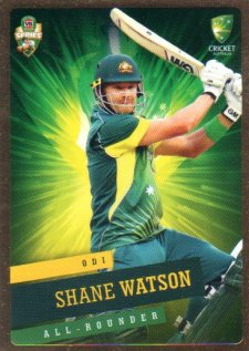 2015/16 CA & BBL Cricket Gold Parallel #PS30 Shane Watson Australian ODI