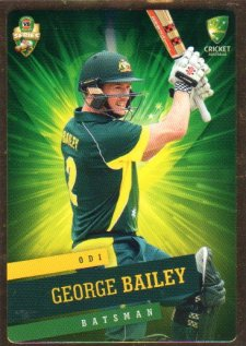 2015/16 CA & BBL Cricket Gold Parallel #PS17 George Bailey Australian ODI