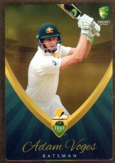 2015/16 CA & BBL Cricket Gold Parallel #PS14 Adam Voges Australian Test