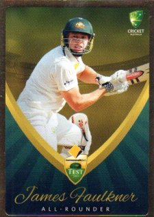2015/16 CA & BBL Cricket Gold Parallel #PS3 James Faulkner Australian Test