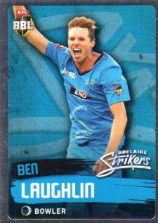 2015/16 CA & BBL Cricket Silver Parallel #P66 Ben Laughlin Strikers