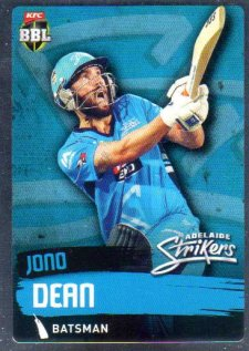 2015/16 CA & BBL Cricket Silver Parallel #P61 Jono Dean Strikers