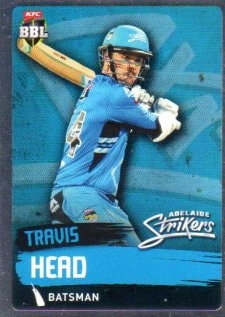2015/16 CA & BBL Cricket Silver Parallel #P62 Travis Head Strikers
