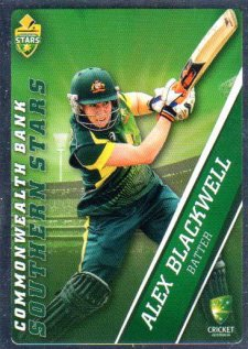 2015/16 CA & BBL Cricket Silver Parallel #P47 Alex Blackwell Southern Stars