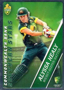 2015/16 CA & BBL Cricket Silver Parallel #P53 Alyssa Healy Southern Stars