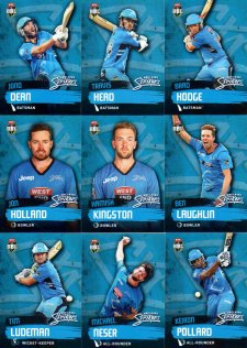 2015/16 CA & BBL Cricket 15-Card Team Set Adelaide Strikers
