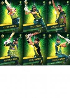 2015/16 CA & BBL Cricket 15-Card Team Set Australian ODI Team