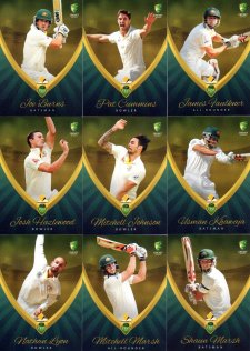 2015/16 CA & BBL Cricket 15-Card Team Set Australian Test Team