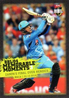 2015/16 CA & BBL Cricket Memorable Moments # MM-03 Adam Zampa Strikers