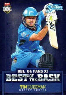 2015/16 CA & BBL Cricket Best of the Bash# BB-01 Tim Ludeman Strikers