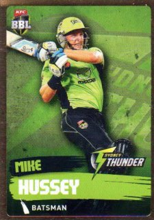 2015/16 CA & BBL Cricket Gold Parallel #PS172 Mike Hussey Thunder