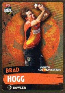 2015/16 CA & BBL Cricket Gold Parallel #PS141 Brad Hogg Scorchers
