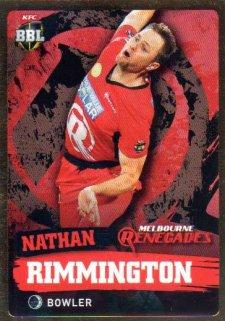 2015/16 CA & BBL Cricket Gold Parallel #PS115 Nathan Rimmington Renegades