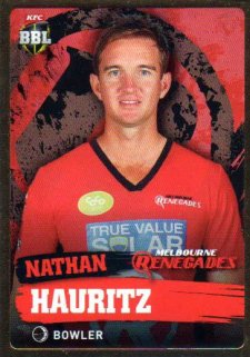 2015/16 CA & BBL Cricket Gold Parallel #PS113 Nathan Hauritz Renegades