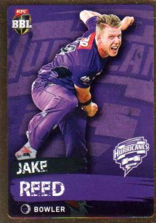2015/16 CA & BBL Cricket Gold Parallel #PS99 Jake Reed Hurricanes