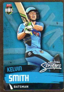 2015/16 CA & BBL Cricket Gold Parallel #PS75 Kelvin Smith Strikers