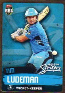 2015/16 CA & BBL Cricket Gold Parallel #PS67 Tim Ludeman Strikers