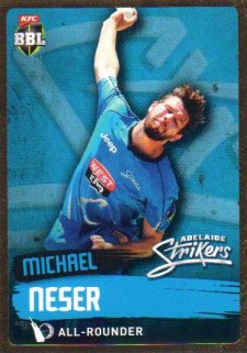 2015/16 CA & BBL Cricket Gold Parallel #PS68 Michael Neser Strikers