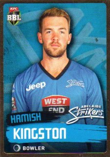 2015/16 CA & BBL Cricket Gold Parallel #PS65 Hamish Kingston Strikers