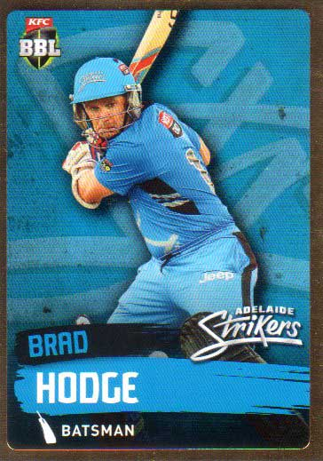 2015/16 CA & BBL Cricket Gold Parallel #PS63 Brad Hodge Strikers