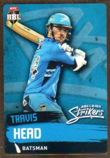 2015/16 CA & BBL Cricket Gold Parallel #PS62 Travis Head Strikers