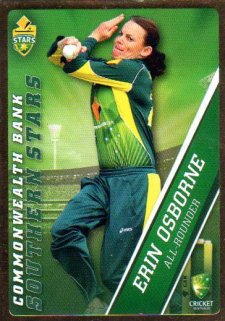2015/16 CA & BBL Cricket Gold Parallel #PS57 Erin Osborne Southern Stars