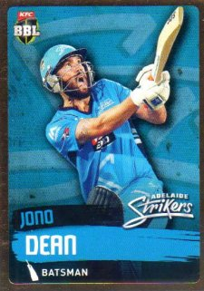 2015/16 CA & BBL Cricket Gold Parallel #PS61 Jono Dean Strikers