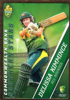 2015/16 CA & BBL Cricket Gold Parallel #PS55 Delissa Kimmince Southern Stars