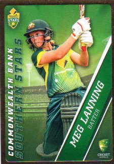 2015/16 CA & BBL Cricket Gold Parallel #PS56 Meg Lanning Southern Stars