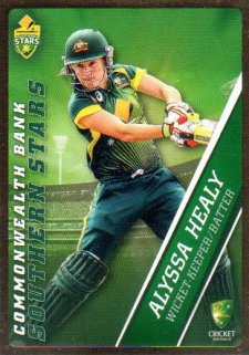 2015/16 CA & BBL Cricket Gold Parallel #PS53 Alyssa Healy Southern Stars