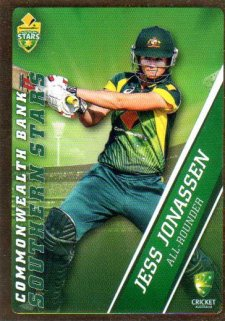 2015/16 CA & BBL Cricket Gold Parallel #PS54 Jess Jonassen Southern Stars