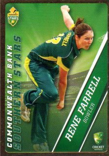 2015/16 CA & BBL Cricket Gold Parallel #PS51 Rene Farrell Southern Stars