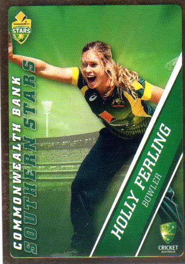 2015/16 CA & BBL Cricket Gold Parallel #PS52 Holly Ferling Southern Stars
