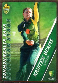 2015/16 CA & BBL Cricket Gold Parallel #PS46 Kristen Beams Southern Stars