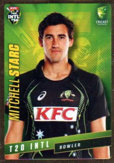 2015/16 CA & BBL Cricket Gold Parallel #PS42 Mitchell Starc Australian T20