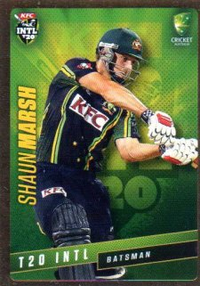 2015/16 CA & BBL Cricket Gold Parallel #PS39 Shaun Marsh Australian T20