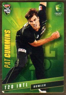 2015/16 CA & BBL Cricket Gold Parallel #PS35 Pat Cummins Australian T20